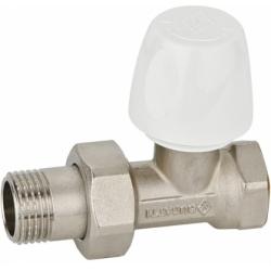 """: фото Клапан регулирующий DALLAS ручной для радиаторов 1/2"""" x 1/2"""" прямой (8801)"""