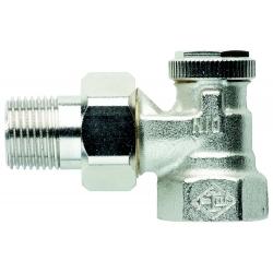 """: фото Радиаторный запорно-регулирующий клапан REGUTEC, DN15(1/2""""), угловой, никелированная бронза"""