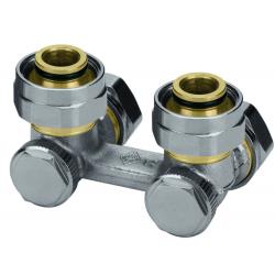 """: фото Клапан для нижнего подключения VEKOTEC для двухтрубной системы G 3/4"""", угловой, никел. бронза"""