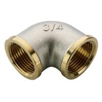 Угольник НВ никелированный 3/4х3/4 для стальных труб резьбовой N.T.M.