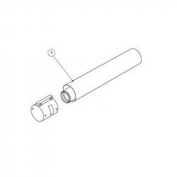: фото Удлинитель AL коаксиальный Protherm, 0,5 м, 80/125 мм