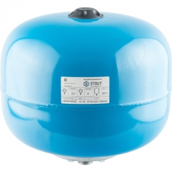 : фото Гидроаккумулятор для водоснабжения (Stout) Varem, 24 л, вертикальный, синий, сменная мембрана