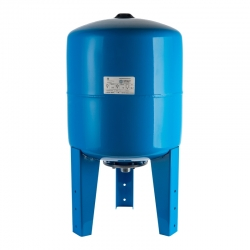 : фото Гидроаккумулятор для водоснабжения (Stout) Varem, 50 л, вертикальный, синий, сменная мембрана