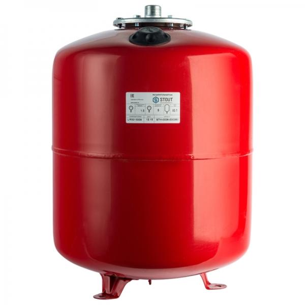 Расширительный бак для отопления (STOUT) Varem, 50 л, красный фото 1