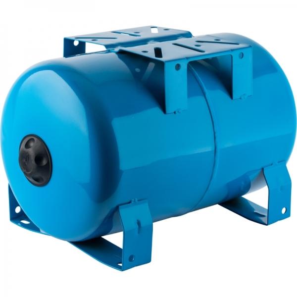 Гидроаккумулятор для водоснабжения (STOUT) Varem, 20 л, горизонтальный, синий, сменная мембрана фото 1