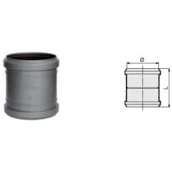 : фото Муфта прямая канализационная серая 110 мм Sinikon