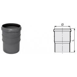 : фото Компенсационный патрубок удвоенной длины 170 мм канализационный серый диаметр 110 мм Sinikon