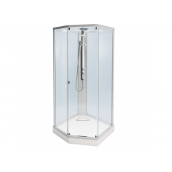 : фото Душевая кабина профиль белый, стекло прозрачное 100x100 IDO Showerama 8-5 4985122010