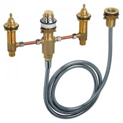 : фото Базовый набор для установки смесителя на 4 отверстия на край ванны Hansgrohe 13244180