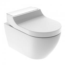 : фото Комплект унитаз и крышка-биде GEBERIT AquaClean Tuma Comfort 146.294.SI.1 (панель белое стекло)