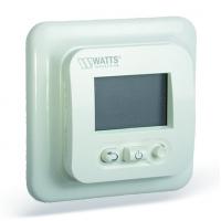 Электронный комнатный термостат скрытого монтажа с ЖК дисплеем Watts EFHT LCD