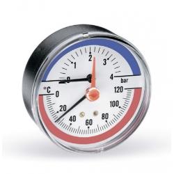""": фото Термоманометр аксиальный Watts F R818 6х1/2"""", DN 80, 0-6 бар"""