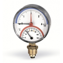 """: фото Термоманометр радиальный Watts F R828 6х1/2"""", DN 80, 0-6 бар"""