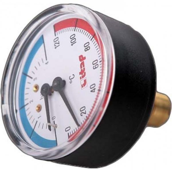 "Термоманометр осевое подключение 1/2"" ITAP ART 485 фото 1"