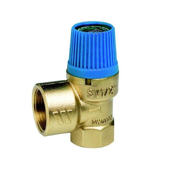 """Клапан предохранительный WATTS SVW 8, 1/2"""" x 3/4"""" для систем  водоснабжения (синий колпачок) 02.16.108  фото 1"""
