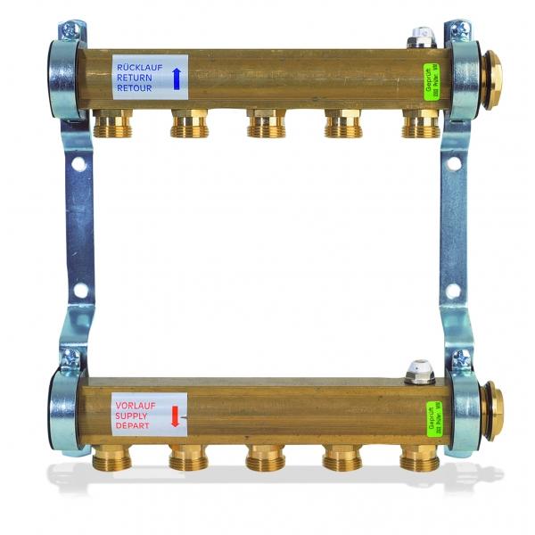 Коллектор для этажной радиаторной разводки WATTS 1'' x 5 выходов HKV/A-5 фото 1