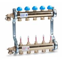 Коллектор для теплых полов с расходомерами Watts 1'' x 6 выходов HKV/T-6