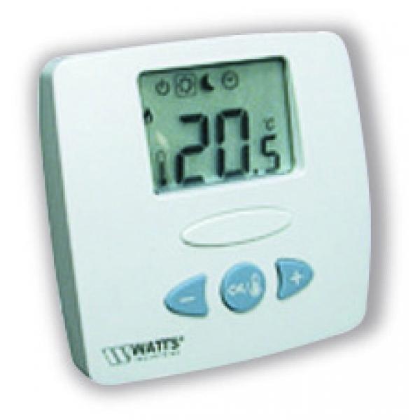 Комнатный термостат WATTS WFHT-LCD, с датчиком пола фото 1